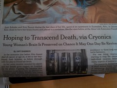 Cryonics (skooksie) Tags: newspaper neworleans saints cryonics