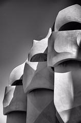A touch of Gaudí (CJS*64) Tags: barcelona trip bw holiday monochrome mono blackwhite spain nikon gaudi dslr casamila lapedrera cjs whiteblack nikkorlens d7000 nikond7000 18mm105mmlens craigsunter cjs64