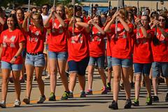 Jean shorts crew (radargeek) Tags: oklahoma band parade highschool marching mustang ok hs flutes 2015 hometownheroes mustangwesterndaysparade