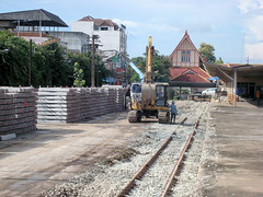 Thailand - Chiang Mai - Station chronicle update (railasia) Tags: thailand track chiangmai renovation infra sleeper srt trackbed 2015 metergauge stationchronicle