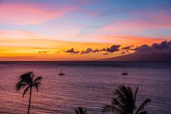 Ka'anapali Beach Sunset, Maui - 39 (www.bazpics.com) Tags: ocean sunset sea summer usa cloud sun west color colour beach water clouds america island hawaii islands us sand unitedstates pacific dusk maui hawaiian hi lahaina kaanapali
