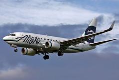 N615AS Alaska 737-790W landing at KPDX (GeorgeM757) Tags: alaska airplane aircraft aviation landing boeing 737 kpdx portlandinternational n615as alltypesoftransport 737790w georgem757