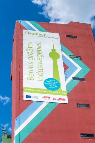Abriss Türme CleanTecPark, Berlin