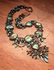 Mix Media Necklace (bdrameyphotography) Tags: film jewelry scanned 4x5 largeformat artscrafts ektachrome100plus tabletopphotography epson850scanner