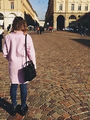 #Turin #pinko #pink #cappotto #PiazzaSanCarlo #KeyB (kriziabitetto) Tags: pink turin piazzasancarlo pinko keyb cappotto