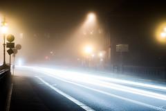 Carpet of Light (jumati nature) Tags: longexposure fall weather fog night season photography lights long exposure technology sweden outdoor vehicles technique norrkping stergtland opad photographytechnique