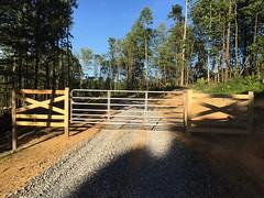 Matt built a gate to secure the building site