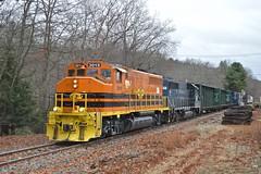 C.C. Lounsbury, Windham, CT (JaiJad) Tags: railroad train ct freight freighttrain freightyard 3015 necr newenglandcentral traininwillimantic necr3015 necr437 traininwindham traininfranklin