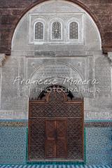 Acces to Al-Attarine Madrasa. Fez (FM Photographer) Tags: africa door fez medina marroc feselbali alattarinemedersa madrasamedersa