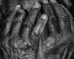 (Maerten Prins) Tags: old blackandwhite texture monochrome lines interesting hands hand finger nail fingers line nails age missingfinger