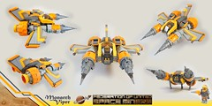 "Space Miner Viper ""Monarch"" (TFDesigns!) Tags: lego space spaceship viper miner starfighter collectibleminifig nnovvember"