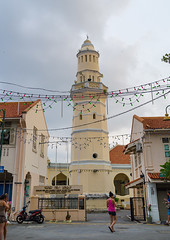 Acheen street malay mosque, Penang island, George town, Malaysia (Eric Lafforgue) Tags: street city people building vertical architecture asian outdoors island ancient women asia southeastasia day minaret south muslim islam religion fulllength culture conservation landmark mosque structure georgetown historic unescoworldheritagesite east malaysia historical penang spirituality malaysian masjid malay islamic penangisland octagonal pulaupinang buildingexterior lowangleview penangstate colourimage builtstructure acheenstreet acheen malay3156