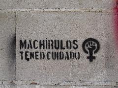 Machirulos. Tened cuidado (Arrtez la Musique) Tags: madrid espaa woman streetart graffiti donna mujer spain women mulher urbanart donne feminist equality lavapis femenino takecare feminin arteurbano femenine womenrights feminista igualdad malechauvinist tenedcuidado machirulos
