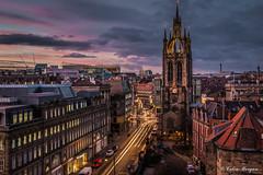St. Nicholas Cathedral, Newcastle (Explored) (Splendid What) Tags: sunset sky castle newcastle newcastleunited nightshots stnicholascathedral newcastleupontyne castlekeep stnicholasstreet stjamesparkstadium
