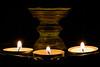 Tea lights (Lekha Suraweera) Tags: lamp lights three candles flicker