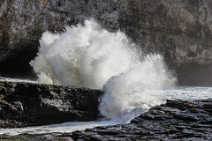 be careful exploring (j j miller) Tags: ocean california coast rocks davenport hwy1 californiacoast sharkfin rockstacks sharkfincove