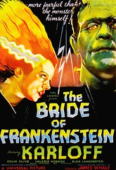 """The Bride of Frankenstein"" Movie Poster (Universal Pictures, 1935) (lhboudreau) Tags: film monster movie poster movieposter frankenstein horror universal brideoffrankenstein 1935 motionpicture horrorfilm boriskarloff karloff elsalanchester universalpictures jameswhale gothichorror thebrideoffrankenstein hollywoodmovie colinclive carllaemmle universalpicture hollywoodmotionpicture"