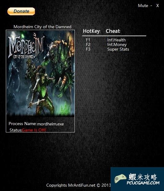 莫德海姆:詛咒之城 v1.0.4.1三項修改器MrAntiFun版[適用64位]