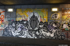 Goa trance (Red Cathedral [FB theRealRedCathedral ]) Tags: brussels streetart car graffiti sony bruxelles railway tunnel alpha brussel chapelle eventcoverage sonyalpha mirrorless kapellekerk a6000