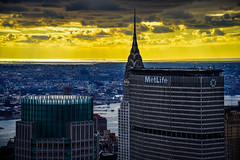 Sunrise view of MetLife Building from Top of the Rock - Rockefeller Center New York City NY (mbell1975) Tags: newyork unitedstates us sunrise view metlife building from top rock rockefeller center new york city ny nyc manhattan usa america american skyscraper skyscrapers office buildings downtown morning am