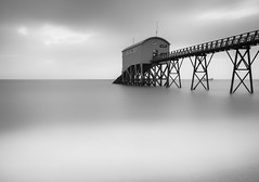 Selsey mono (Tractorboy1981) Tags: sussex selsey pier jetty south coast uk england black white contrast long exposure d7100 wideangle lifeboat