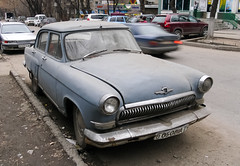 Abandoned GAZ-21 with Soviet license plates (Amir Nurgaliyev) Tags: gaz21 газ21