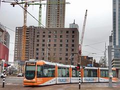 RET tram Wilhelminaplein (sander_sloots) Tags: alstom citadis tram ret wilhelminaplein rotterdam kranen cranes bouwkranen streetcar tramway wilhelminapier
