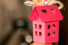 My little Swedish House (Marcy Leigh) Tags: mylittleswedishhouse knickknack trinket red hearts house sweden swedish 116picturesin2016 bokeh
