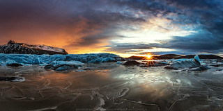 Sunset by the Glacier