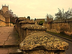 Walk or Drive to Church? (springblossom3) Tags: chipping campedn church worship route st james cotswolds architecture history religion walls steps cottages