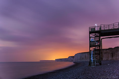 Words move faster (OR_U) Tags: 2017 oru uk eastsussex birlinggapandthesevensiste sevensisters birlinggap stairs le longexposure cliffs sunset lightpainting sea ocean coast beach sliderssunday hss underworld birlinggapandthesevensisters fun exercise