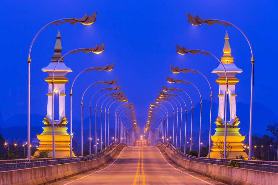 One of the Thai Lao friendship bridges
