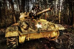 Attacke Skull Boones (Batram) Tags: panzer tank m24 chaffee urbex urban exploration gas mask maske gasmaske