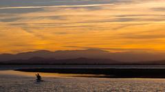 Der Paddler (Zenergy Photography) Tags: etang frankreich pyrénéesorientales sonnenuntergang sunset