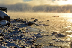 Freezing sea and sea smoke at -20°C (Kallahti, Helsinki, 20170106) (RainoL) Tags: 2017 201701 20170106 cold d5200 fin finland geo:lat=6018451037 geo:lon=2514994128 geotagged helsingfors helsinki ice kallahdenniemi kallahti kallvik kallviksudden nordsjö nyland seafog seasmoke uusimaa winter vuosaari