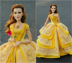 Belle! (They Call Me Obsessed) Tags: 2017 disney store doll dolls barbie limited edition ooak belle beauty beast emma watson film collection princess princesses upcoming liveaction remake rose gaston dress repaint