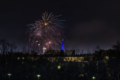 _MG_5233 WOSP 2017. (Sakuto) Tags: fireworks light night city poznan wosp landscape tower blue colors outdoor colorful poland sky