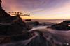 El cargadero (Caramad) Tags: mar color sunset olas ©camadats puestadesol rocas agua longexposure wave sol luz sea costa landscape seascape rocks marcantábrico españa playa