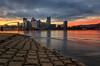 Banks Of The Allegheny (Brad Truxell) Tags: pittsburgh longexposure city river sunrise light alleghenyriver ohioriver shore riverbank hdr exposureblending sigma1020mm nikond7000