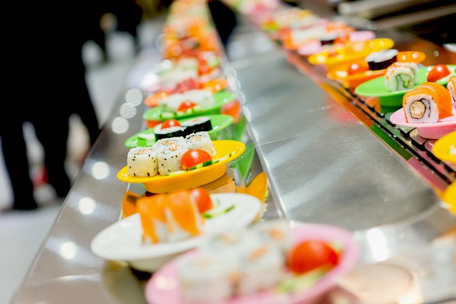 Conveyor belt sushi restaurants are commonplace these days