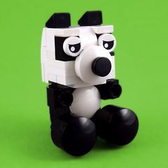 Cuddly Toys: Panda (Swan Dutchman) Tags: lego toy cuddlytoy stuffedtoy plushtoy plushies snuggies stuffies snuggledanimals stuffedanimals softtoys knuffel knuffelbeest knuffeldier panda giantpanda pandabear reuzenpanda pandabeer bamboebeer