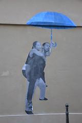 Le mouvement (Ausmoz) Tags: paris street art streetart rue urbain urban mur murs wall walls sticker stickers poster posters collage collages pasteup mouvement parapluie umbrella