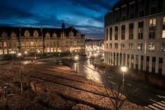 Plein feux sur les Princes-Evêques... (Gilderic Photography) Tags: liege belgium belgique belgie morning street city architecture palace palais princeseveques lights lumiere lumix lx100 gilderic