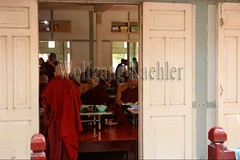 30099741 (wolfgangkaehler) Tags: 2017 asia asian southeastasia myanmar burma burmese mandalay mahagandayonmonastery mahagandayonmonastary people person monks buddhist buddhistmonasteries buddhistmonastery buddhistmonk buddhistmonks almsceremony almsbowls meal eating