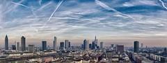 Himmel über Frankfurt (norbert.r) Tags: 20mm flickrchallengegroup frankfurt gx80 landscape lumix microfourthirds pancake hugin prime skyline panorama nik pseudohdr sky