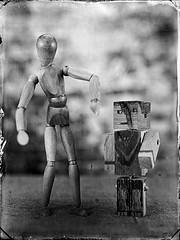 Evolution (Nagy Krisztian) Tags: 18x24cm collodion wetplate negative evolution wooden toy