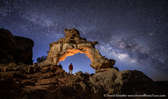 Early Morning Stars (David Swindler (ActionPhotoTours.com)) Tags: night utah kanab southwest desert stars nightscape milkyway arch