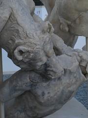 Scylla Group - Detail of one of the wolf Head - Archaeology Museum of Sperlonga (www.ontravelwriting.com) Tags: ulysses odyssey nationalarchaeologymuseumofsperlonga museum hellenisticsculptures marble mediterraneansea lazio italy travel travelling art archaeology ancientart greekart romanart scylla monsters legends myth