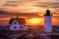 Sundown (Mike Blanchette) Tags: capecod capecodnationalseashore coast massachusetts newengland racepoint seacoast seascape coastal lighthose snow winter provincetown usa