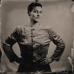 Portrait of Aline - 1 (patrickvandenbranden) Tags: 18x18 8x8inch heliar alternativeprocess ambrotype bw collodion collodionhumide feminity femme fineart largeformat noiretblanc pictorialist portrait procédéalternatif retro studio vintage wetplate woman